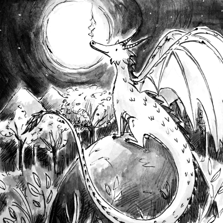 Inktober - Dragon
